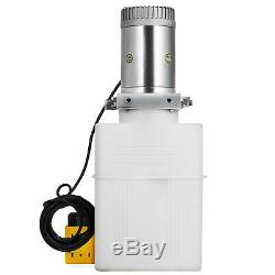 20 Pintes Double Effet Pompe Hydraulique Remorque Dompeuse 12v Unité De Levage