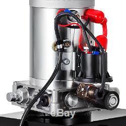 20 Pintes Simple Effet Pompe Hydraulique Dump Déchargement Remorque 12v Réservoir