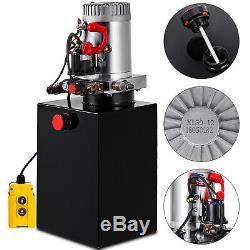 20 Pintes Simple Effet Pompe Hydraulique Remorque À Déchargement 12v Fer Power Unit