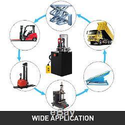 20 Pintes Simple Effet Pompe Hydraulique Remorque À Déchargement 12v Réservoir Déchargement