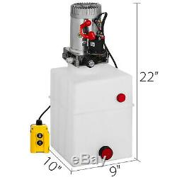 20 Pintes Simple Effet Pompe Hydraulique Remorque Benne Ascenseur Réservoir Déchargement