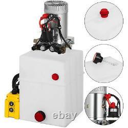 20 Quart Double Acting Hydraulique Pompe Décharge Remorque Déchargement Réparation De Voiture