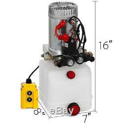 3 Pintes Double Effet Pompe Hydraulique Remorque À Déchargement 12v Unité Kit Pack Contrôle