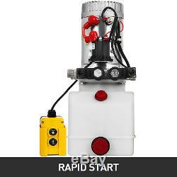 3 Pintes Double Effet Pompe Hydraulique Remorque À Déchargement Réservoir Kit Car Control