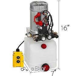 3 Pintes Double Effet Pompe Hydraulique Remorque À Déchargement Unité D'alimentation Kit De Contrôle 12v