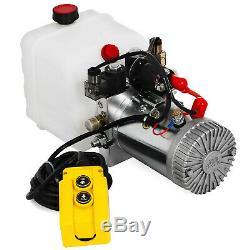 3 Pintes Pompe Hydraulique Double Effet Dump Trailer Kit D'alimentation Unité De Contrôle 12v