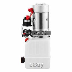 4 Pintes Double Effet Pompe Hydraulique Remorque À Déchargement 12v Ca Stock Unit
