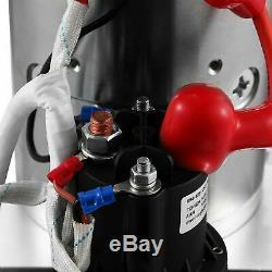 4 Pintes Double Effet Pompe Hydraulique Remorque À Déchargement Déchargement 12v Unité