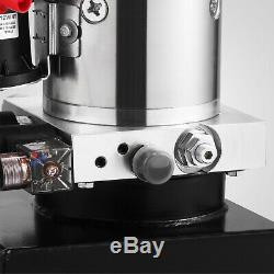 4 Pintes Simple Effet Pompe Hydraulique Remorque Benne Grue Déchargement Voiture