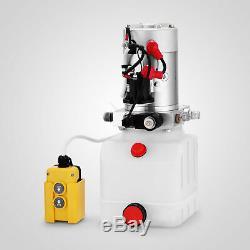 4 Pintes Simple Pompe Hydraulique Par Intérim Dump Remorque Voiture Lift 12 Volt Réparation