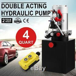 4l12vdc Double Effet Hydraulique Unité De Puissance, Pompe, Remorque Benne, Ascenseur