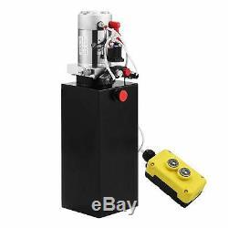 6 Pintes Dc12v Double Pompe Hydraulique Par Intérim Unité D'alimentation Pour Camion-benne Ascenseur