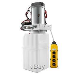 6 Pintes Double Double Effet Pompe Hydraulique Remorque À Déchargement À Distance Réservoir Voiture