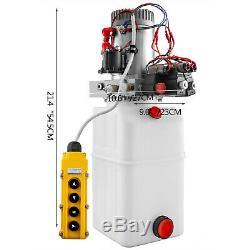 6 Pintes Double Double Effet Pompe Hydraulique Remorque Benne Grue Déchargement Réparation