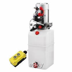 6 Pintes Double Effet Pompe Hydraulique Remorque À Déchargement Contrôle Kit Lift Alimentation Unité