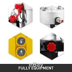 6 Pintes Double Effet Pompe Hydraulique Remorque À Déchargement D'alimentation Unité De Fer Kit De Contrôle