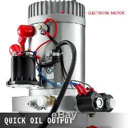 6 Pintes Double Effet Pompe Hydraulique Remorque À Déchargement Déchargement Réparation Plastique