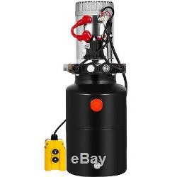 6 Pintes Double Effet Pompe Hydraulique Remorque À Déchargement Levage De Commande Kit De Levage