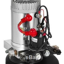 6 Pintes Double Effet Pompe Hydraulique Remorque Benne 12v Déchargement Fer