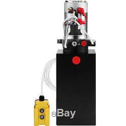 6 Pintes Double Effet Pompe Hydraulique Remorque Benne 12v Lift Grue