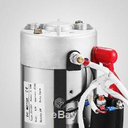 6 Pintes Pompe Hydraulique Double Effet De Dump Trailer Métal Réservoir Pro