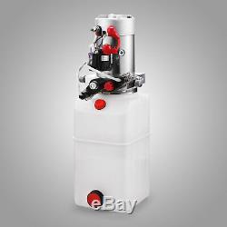 6 Pintes Pompe Hydraulique Double Effet Remorque Benne De Levage Kit De Contrôle 12v