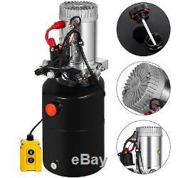 6 Pintes Pompe Hydraulique Double Effet Remorque Benne De Levage Kit De Contrôle Lift