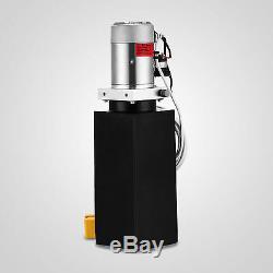 6 Pintes Pompe Hydraulique Simple Effet Dump Remorque Déchargement Ascenseur Voiture