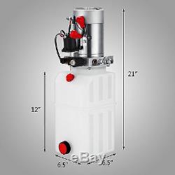 6 Pintes Simple Effet Pompe Hydraulique Dump Contrôle Remorque Kit Déchargement Plastique