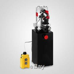 6 Pintes Simple Effet Pompe Hydraulique Remorque À Benne Basculante Déchargement De Contrôle Du Réservoir
