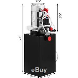 6 Pintes Simple Effet Pompe Hydraulique Remorque À Déchargement Fer De Levage Électrique Unité
