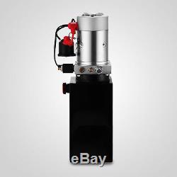 6 Pintes Simple Effet Pompe Hydraulique Remorque À Déchargement Unité Power Metal Unit Pack De