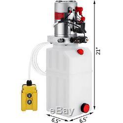 6 Pintes Simple Effet Pompe Hydraulique Remorque Benne Grue Unité Car Pack