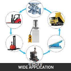 6 Pintes Simple Et Double Effet Pompe Hydraulique Dump Remorque Réservoir De Levage De Grue