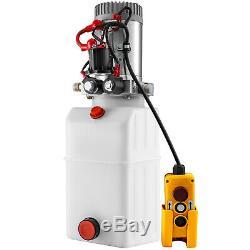 6 Pintes Simple Et Double Effet Pompe Hydraulique Remorque À Déchargement Unité D'alimentation À Distance De Voiture