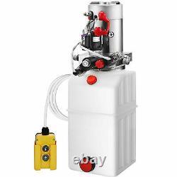 6 Quart Double Pompe Hydraulique À Double Action De Remorque De La Remorque De La Pompe Hydraulique 12v