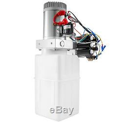 6 Way Pompe Hydraulique 12v 6 Pintes Double Effet Dump Kit De Contrôle De Remorque