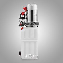 8 Pintes Double Effet Pompe Hydraulique À Benne Remorque 12v Unité De Puissance De Levage