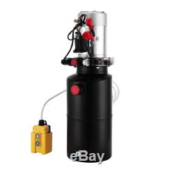 8 Pintes Double Effet Pompe Hydraulique Déchargement Dump Remorque 12v Voiture