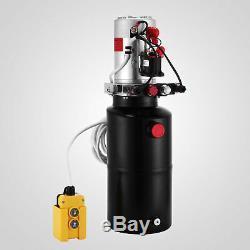 8 Pintes Double Effet Pompe Hydraulique Remorque À Déchargement Déchargement Réparation Ascenseur