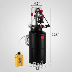 8 Pintes Double Effet Pompe Hydraulique Remorque À Déchargement Électrique Unité De Réparation De Voitures