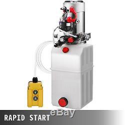 8 Pintes Double Effet Pompe Hydraulique Remorque À Déchargement En Plastique 12v Kit Déchargement