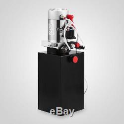 8 Pintes Double Effet Pompe Hydraulique Remorque À Déchargement Réservoir 12v Unité Pack