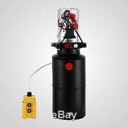 8 Pintes Double Effet Pompe Hydraulique Remorque À Déchargement Unité D'alimentation Unité Pack Ascenseur