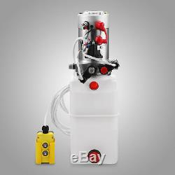8 Pintes Pompe Hydraulique Double Effet Dump Trailer Kit De Levage De Levage De Voitures