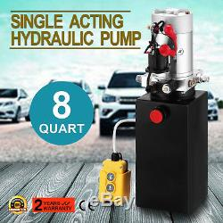 8 Pintes Simple Effet Pompe Hydraulique À Benne Remorque Pack Réparation 12v