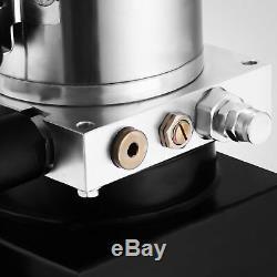 8 Pintes Simple Effet Pompe Hydraulique Benne Remorque Déchargement Contrôle De Fer Kit