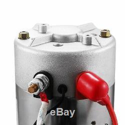 8 Pintes Simple Effet Pompe Hydraulique Remorque À Déchargement Contrôle Kit 12v Voiture