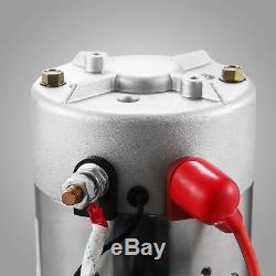 8 Pintes Simple Effet Pompe Hydraulique Remorque À Déchargement Unité D 'emballage Réservoir De Levage