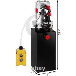 8 Pintes Simple Effet Pompe Hydraulique Remorque À Déchargement Unité Pack De Réparation 12v